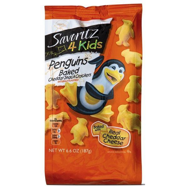 Savoritz Penguin Baked Cheddar Snack Crackers