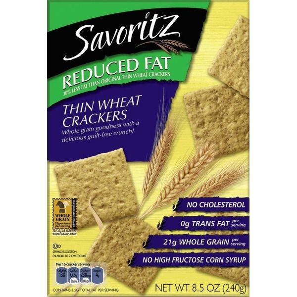 Savoritz Reduced Fat Thin Wheat Crackers