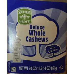 Southern Grove Deluxe Whole Cashew