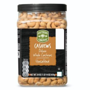 Southern Grove Deluxe Whole Cashews Unsalted